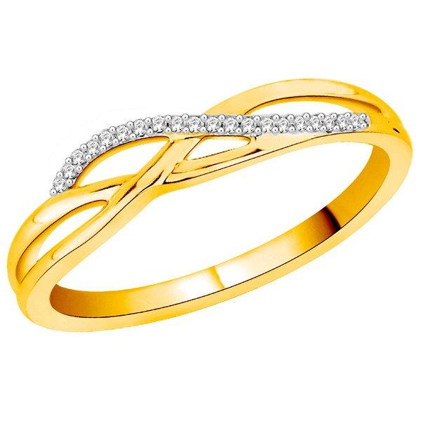 Złoty Pierścionek Zaręczynowy Z Brylantami 375